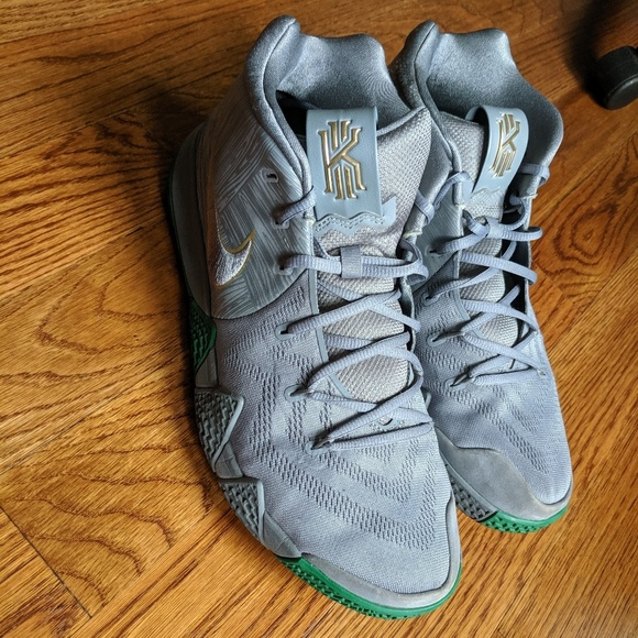size 40 9a17f a1026 Nike Kyrie 4 City Guardians Silver Gray Gold Green